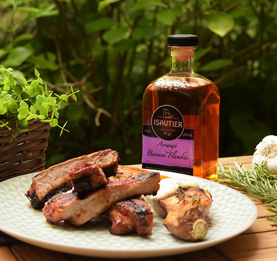 TREAT YOURSELF TO MARINATED SPARE RIBS COOKED IN FLAMBÉD BANANA FLAVOURED RUM