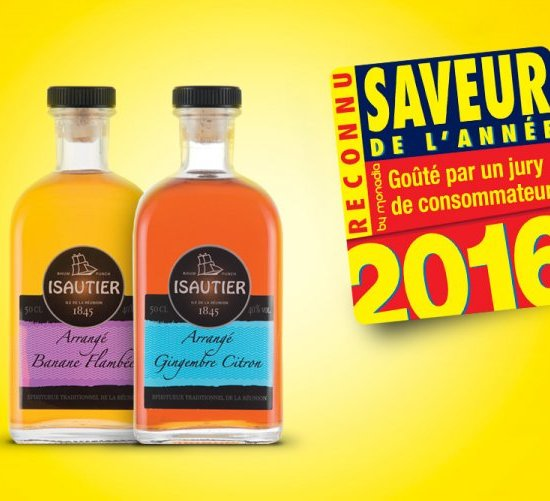 THE FIRST REUNIONESE PRODUCTS TO BE DECLARED 'FLAVOUR OF THE YEAR' !