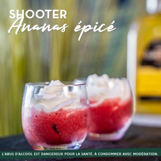 COCKTAIL : SHOOTER ANANAS EPICÉ