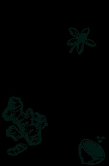 Arrangé gingembre citron gravure background
