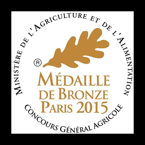 Récompense CGA médaille de bronze Paris 2015