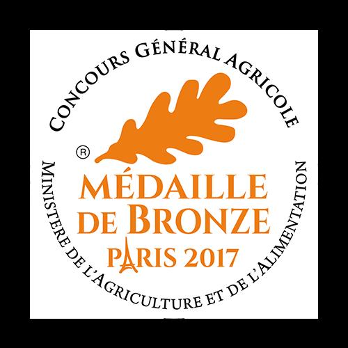Récompense CGA médaille de bronze Paris 2017