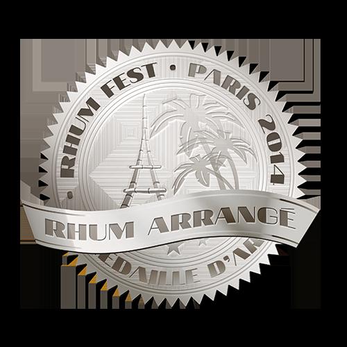 Récompense Rhum Fest Paris argent 2014