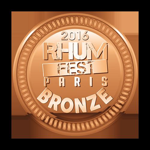 Récompense Rhum Fest Paris Bronze 2016