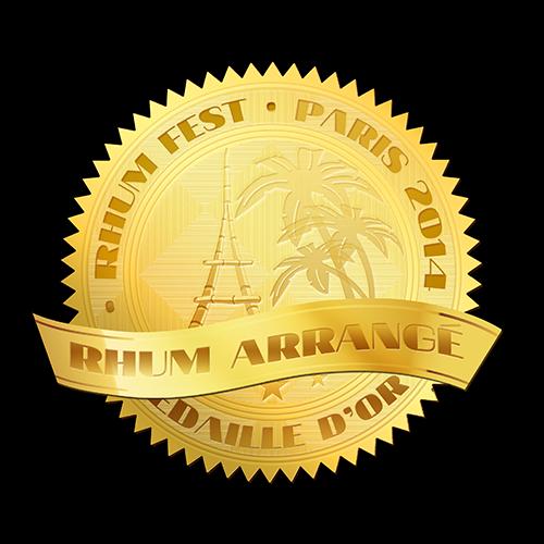 Récompense Rhum Fest Rhum Arrangé médaille d