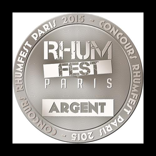 Récompense Rhum Fest argent Paris 2015