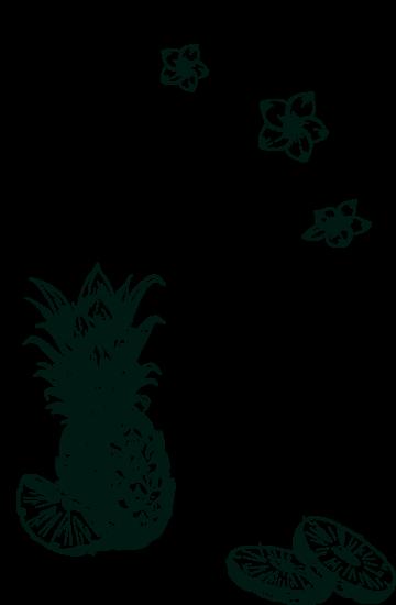 Arhumatik ananas victoria gravure background