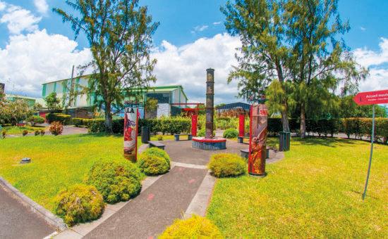 L'entré du musée La Saga du Rhum à La Réunion